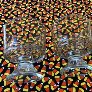 Other - 🍂Set of 2 Clear Candy Dishes / Dessert Dish